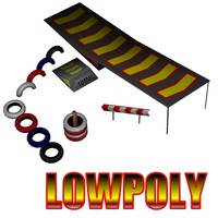 rally track props 3d model