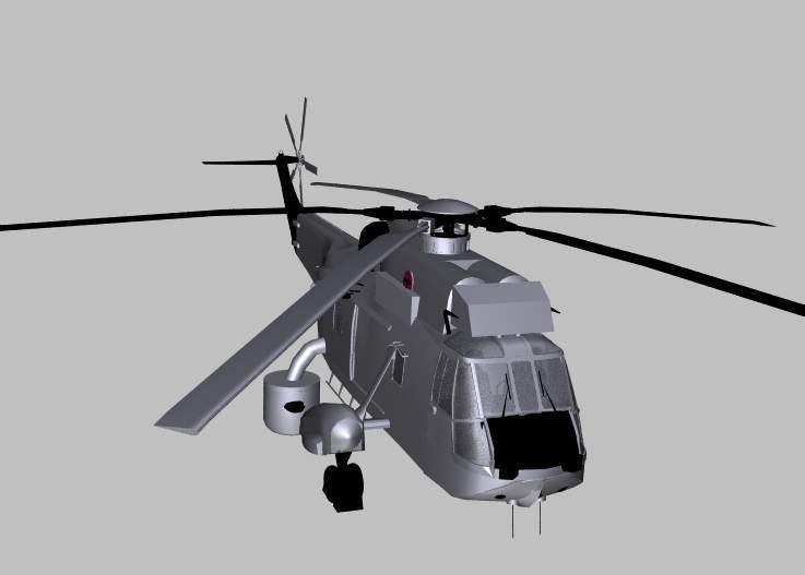 3d model westland seaking aew