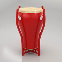 chinese drum 3d 3ds