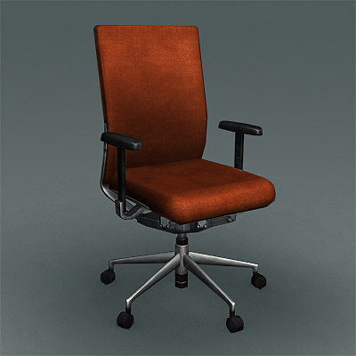 soft executive chair 3d model