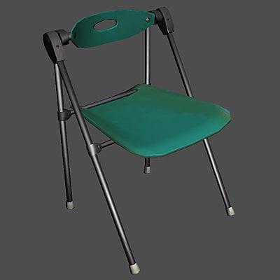 3d model folding office chair