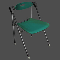 3d model folding office chair