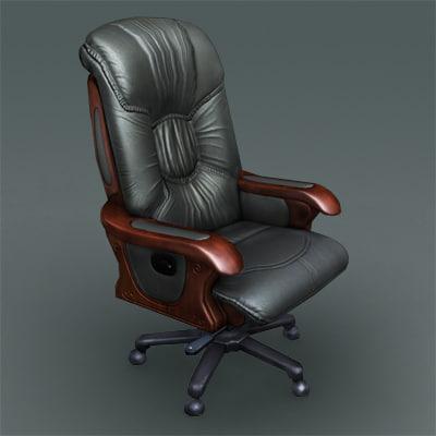 office boss chair 3d max