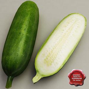 3d model cucumber modelled