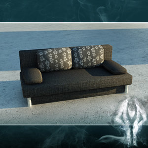 3d max couch black