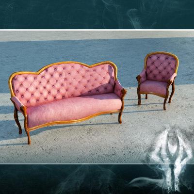 victorian sofa red max