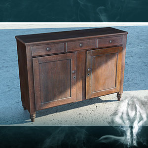 3d antique cupboard model