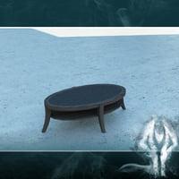 LowPoly ellipse table