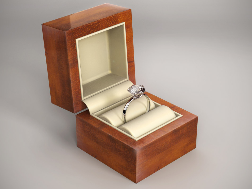 3dsmax diamond ring box