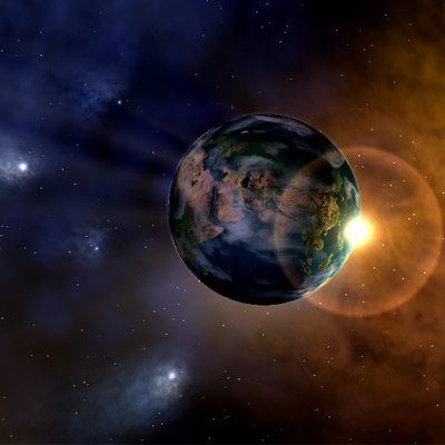 c4d planet earth