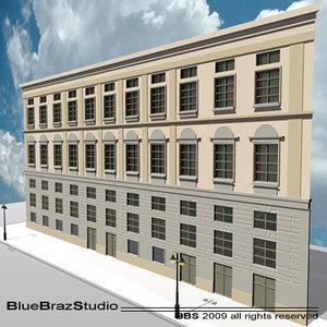 3d european building facade 2