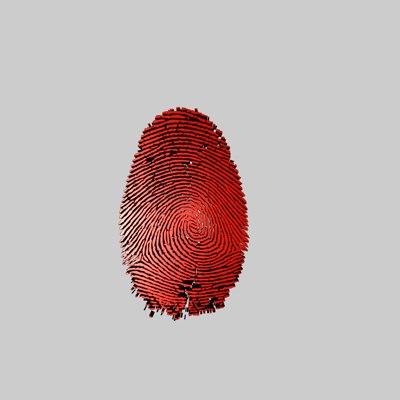 free fingerprint 3d model