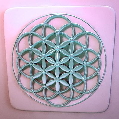 metallic flower life 3d max
