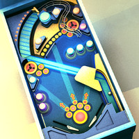 3d pinball machine ball
