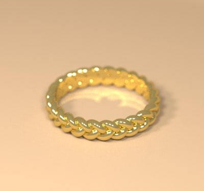 3d model woman celtic ring