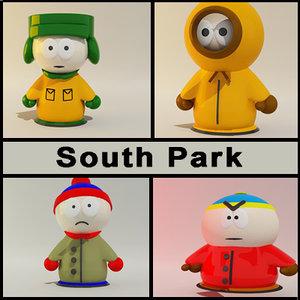 south park characters c4d