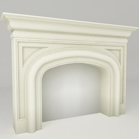 fireplace mantel 3d model