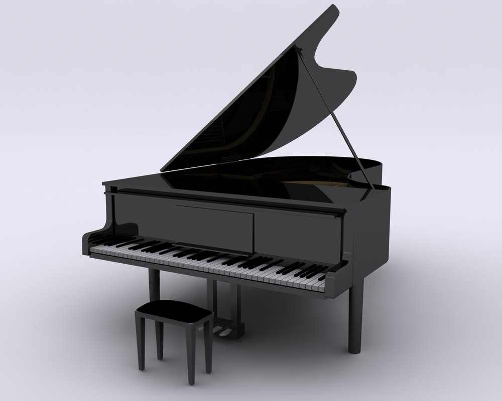 grand piano seat 3d 3ds