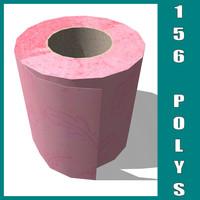 3d model of toilet paper