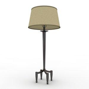 3d model of table lamp legged