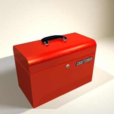 3d model red tool box 01