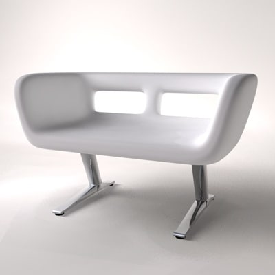 contemporary red 3d model