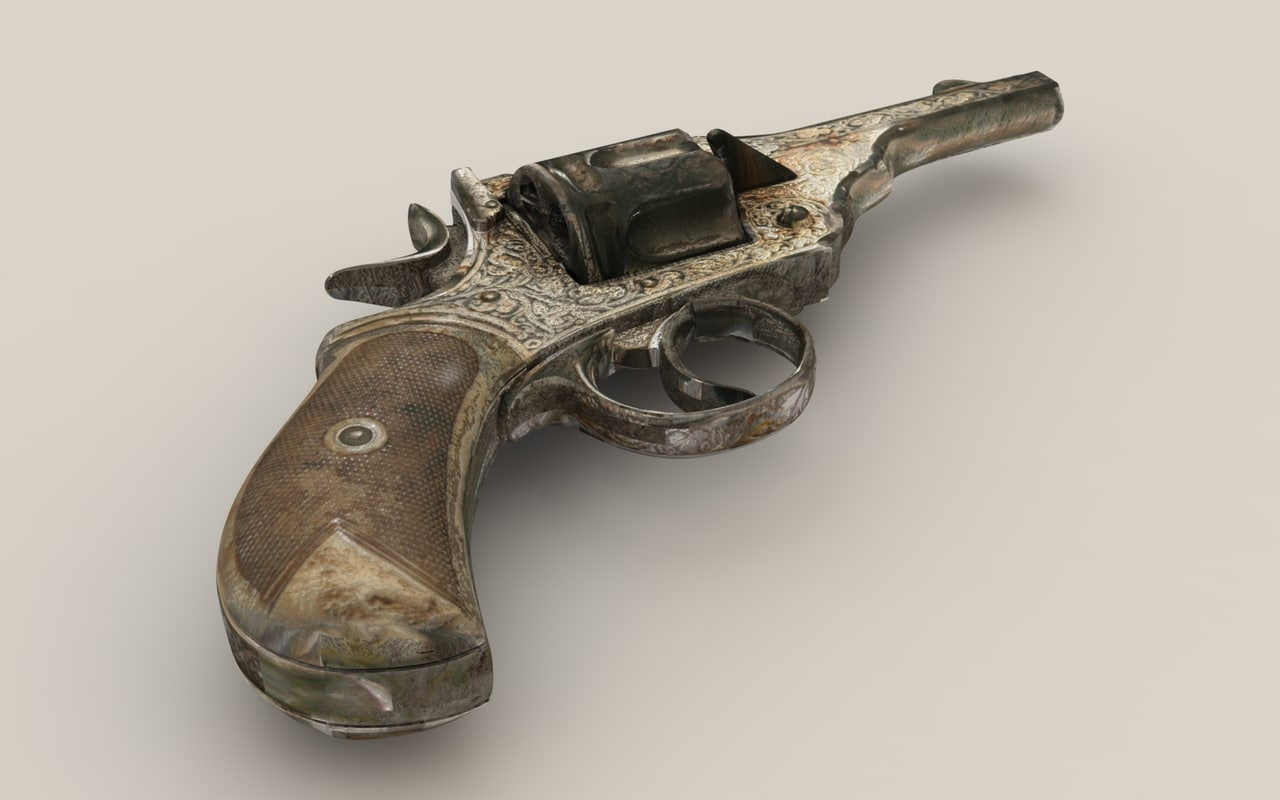 gun old 3d model