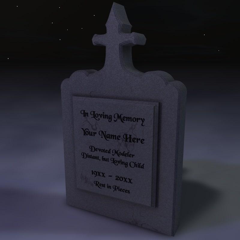 3d tomb stone tombstone