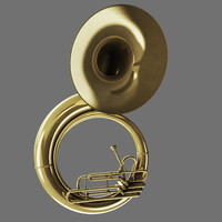 tuba tube brass 3d obj