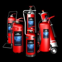 Fire extinguishers set