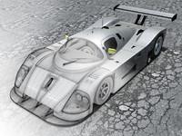 sauber c9 mercedes 3ds