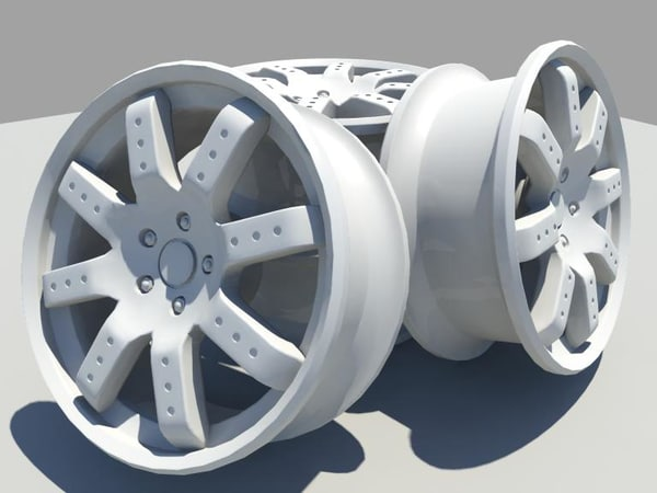 mag wheels 3d obj