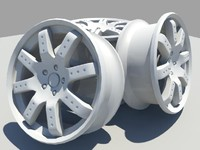 mag wheels 3d obj