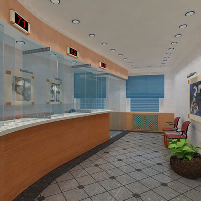 dwg bank lounge interior