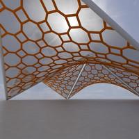 3d model membrane structure super 06
