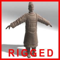 Terracotta Warrior - RIGGED (SALE PRICE!)