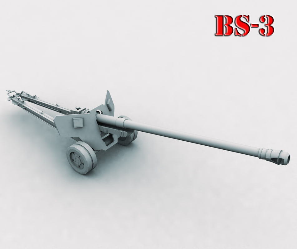 3ds max gun bs-3 anti-tank