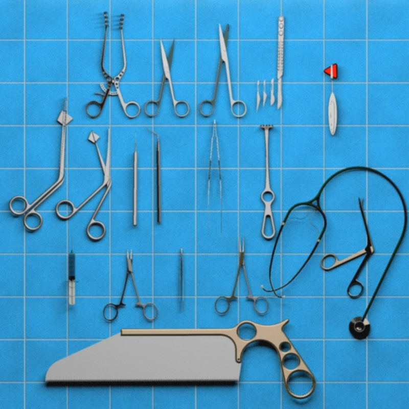 3d model surgical instrument