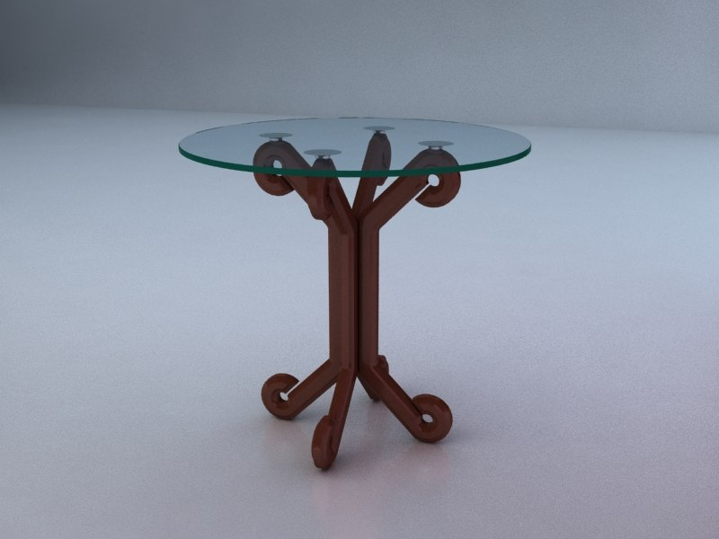 3d table center