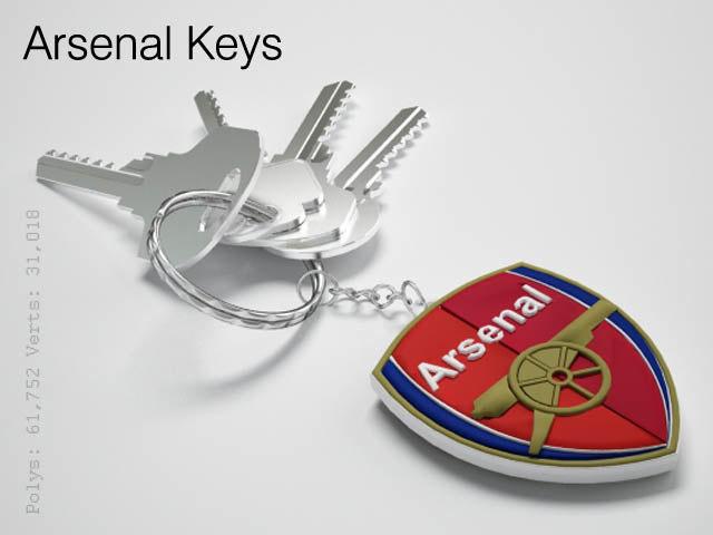 arsenal keys 3d 3ds