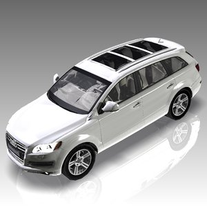 3d model car audi q7 luxury