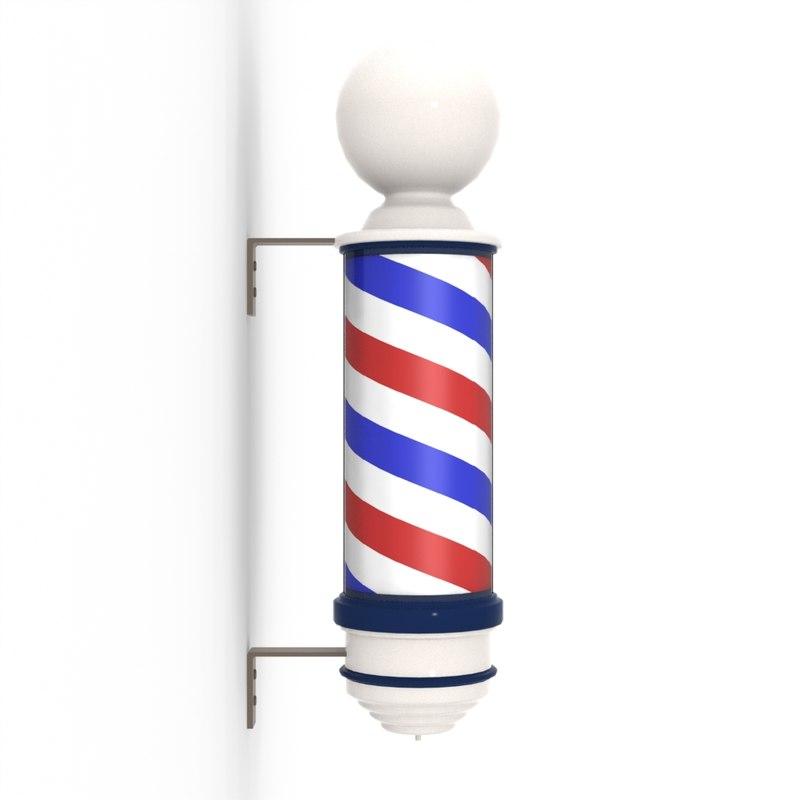 Animated Barber Pole 3dm barber pole