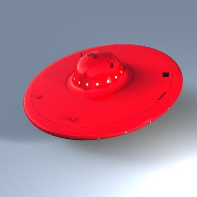 3d classic flying saucer