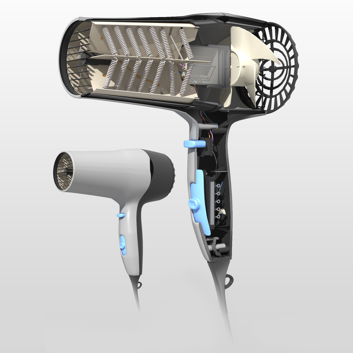 3ds max hair dryer