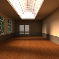 hall room design 3d model
