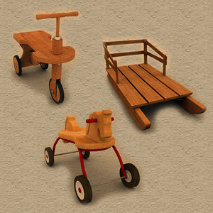 bike toy horse 3d 3ds