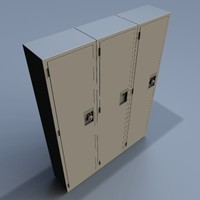 3d model school lockers lock