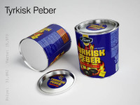 3d model tyrkisk peber
