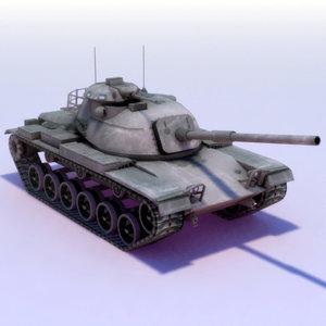 3d model m60a3 tank m60 gun