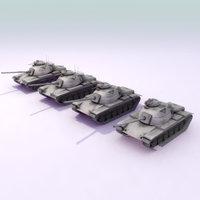 3d m60a3 lods m60 tank